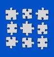 Set of puzzle pieces vector image vector image