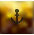 anchor icon on blurred background vector image