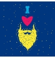 Beards love vector image