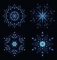 blue shining snowflake vector image