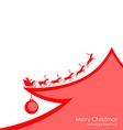 Deer card red vector image