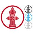 fire hydrant symbol vector image