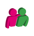 friends friendship symbol flat isometric icon or vector image