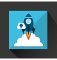 hand business growth idea cloud vector image