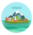 Iceland Landmark Travel vector image
