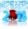 new year 2018 with christmas ball vector image