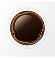 Outline Coffee Cup with Crema Bubbles vector image