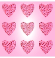 Seamless pattern with big hearts vector image