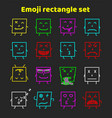 set of colorful emoticons emoji flat backgound vector image