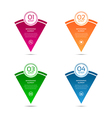 Set of colorful pointers elements vector image