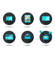 Set of stylish icons vector image