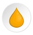 Honey drop icon cartoon style vector image