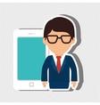 user technology design vector image