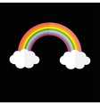 Rainbow and two white clouds LGBT sign symbol vector image vector image