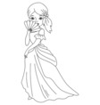 Black and White Princess vector image