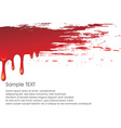 bright ink splat dropping design with grunge vector image