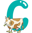 C for cow vector image