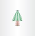 Christmas tree design element icon vector image