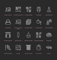clothing repair alterations flat line icons set vector image