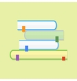 Education book Flat icon vector image