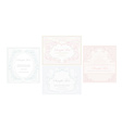 elegant abstract vintage frame invitation set vector image