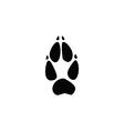 fox footprint vector image