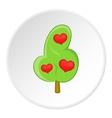Heart tree icon flat style vector image