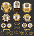 luxury golden labels retro vintage collection 1 vector image