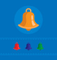 set of colored bell icons vector image