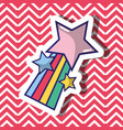 star rainbow fashion patch design vector image