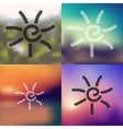 sun icon on blurred background vector image