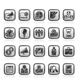 Business management concept icons vector image