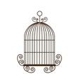 Birdcage silhouette vintage icon vector image