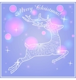 Merry Christmas card on bokeh background vector image vector image
