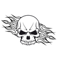 Human skull with flames for tattoo vector image vector image