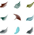 Different wings icons set flat style vector image