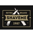 Barber shop vintage isolated label vector image