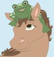 Frog Friend vector image