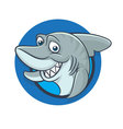 Funny shark mascot vector image vector image