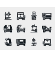 machine tool icons set vector image vector image