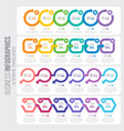 6 steps timeline infographic template with arrows vector image
