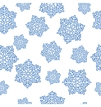 snowflakes seamless isolated vector image