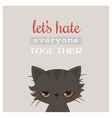 Angry cat cartoon Cute grumpy cat  Grumpy vector image