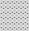 Seamless black and white pattern in arabic style vector image vector image