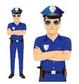 Handsome middle-aged police officer vector image