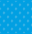 leaves pattern seamless blue vector image