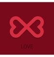 modern love background Heart concept vector image