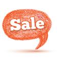 Oval sale speech bubble vector image