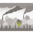 smoke and contaminated environment vector image