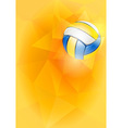 Volleyball card vector image
